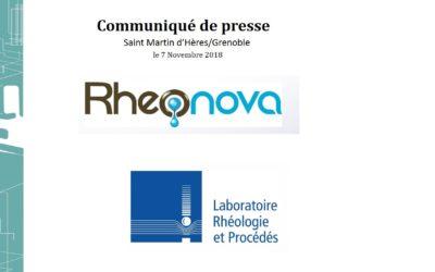 Rheonova et le Laboratoire Rhéologie et Procédés créent «MUCUS».